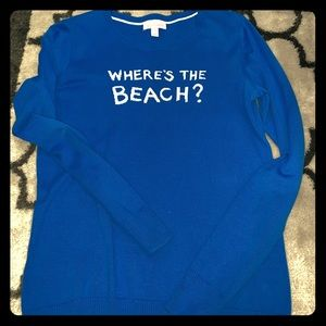"Lilly Pulitzer ""Where's the Beach"" Sweater"